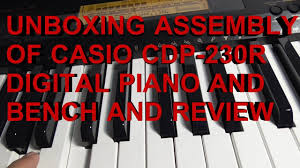 costco casio cdp 230r digital piano unboxing bench and stand