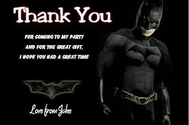 batman congratulations card personalised batman thank you cards