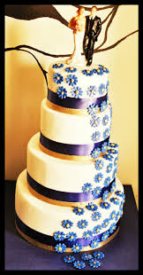 wedding cake royal blue royal blue white wedding cake professional home bakers