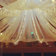 Christmas Lights Behind Sheer Curtain How To Decorate Ceiling With Tulle And Lights Papermart Com