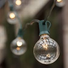 Clear Patio String Lights Patio Lights Commercial Clear Globe String Lights 50 G50 E12