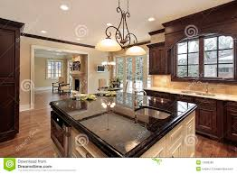 Large Kitchen With Island Kitchen With Large Island Stock Photography Image 12656282