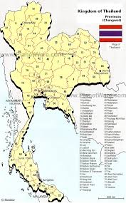 map of province map of provinces changwat planetware