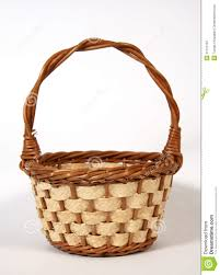 wicker easter baskets the empty easter basket royalty free stock photography image