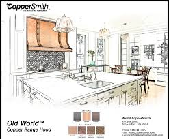 copper range hood designs coppersmith