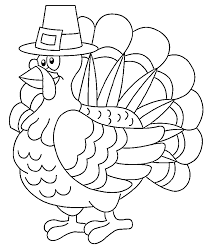 Thanksgiving Turkey Coloring Pages For Kids In Fancy Pict Turkey Coloring Pages Printable