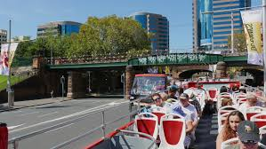 hop on hop sydney australia sydney australia april 01 2016 unidentified tourists ride the