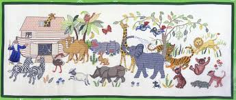 noah s ark cross stitch kit by rosenstand