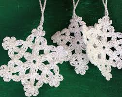 handmade decorations crochet snowflake pattern