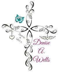 christian fish cross tattoo design by denise a wells cross