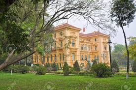 colonial mansion historic french governor s colonial mansion hanoi vietnam stock