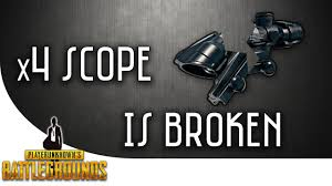 pubg 4x guide pubg x4 scope is broken youtube