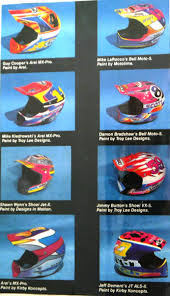 shoei helmets motocross 80 u0027s u0026 90 u0027s custom painted helmets of the stars moto related
