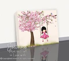Artwork For Kids Room by Cherry Blossom Tree Artgirls Wall Artcherry Blossom
