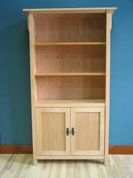 Bookcases With Doors Uk Bookcase Cherry Mission With Door Kit Clear Coat 40 Unfinished