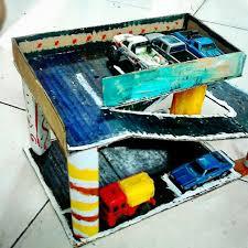 membuat miniatur mobil dari kardus kardus parkir mobil mamaray s blog