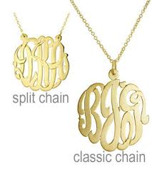 script monogram necklace gold cut script monogram necklace blue beetle