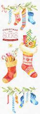 this christmas socks watercolor clipart set is just what you