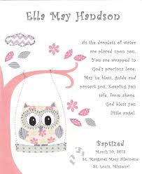 Personalized Gift For Baby Baptism Gift For Baby Christening Gift For Girls Owl