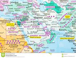 World Map Of Middle East by Middle East Map Stock Photo Image 58763197