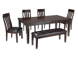 signature design by ashley haddigan 6 piece rectangular dining