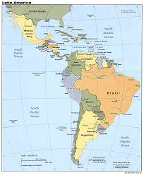 Labeled United States Map by Labeled South America Map