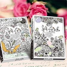secret garden colouring book postcards 32 sheets coloring postcard tintage postcards for diy