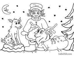 christmas sprite reindeer coloring pages hellokids
