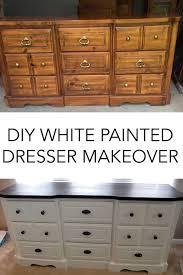 Dresser Diy Diy White Painted Dresser A Merry Life