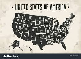United States Map With State Names by Poster Map United States America State Stock Vector 541734340