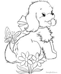 coloring pages excellent puppies coloring pages 033 cute puppy