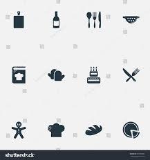 id cuisine simple vector illustration set simple cuisine icons stock vector 675580060