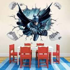 Batman Home Decor Batman Art Vinyl Wall Stickers Wall Decals Mural Kids Room Nursery