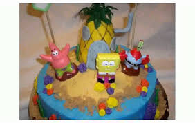 spongebob cake decorations youtube