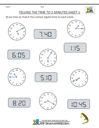 math worksheets on time math worksheets for 2nd graders second