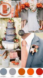 shades of orange november wedding colours grey and shades of orange wedding palette