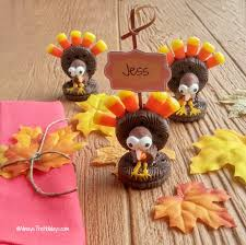 thanksgiving oreo turkey cookie place card holder always the