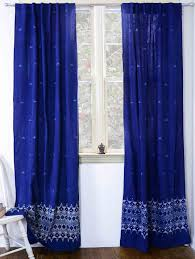 indigo curtains window curtain indigo blue bedroom one panel zoom