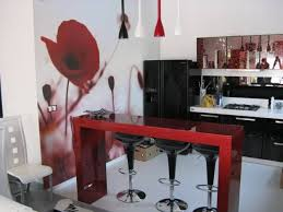 Kitchen Design Black And White Black And Red Interior Design Top Wall Color Black Examples Of