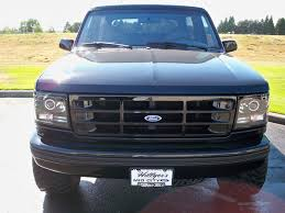 bronco car 1996 led halo 1992 1996 ford bronco f150 f250 f350 projector black
