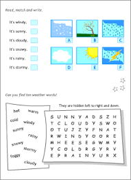 talking about the weather in english printable resources