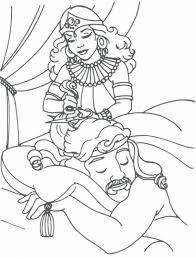 samson coloring pages intended for samson and delilah coloring