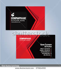 red black modern business card template stock vector 575814559