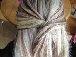 platinum blonde hair with brown highlights dark blonde hair color with highlights color