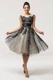 luxury sheer short black lace robe de cocktail party dresses 2016