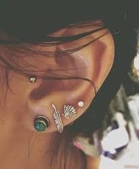 earring ear jewels earrings ears feathers pearl silver blue earings