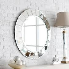 decoration incredible designer round bathroom mirrors with brick