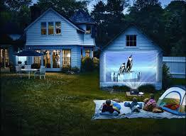 Backyard Movie Night The Perfect Backyard Home Theater Epson Moviemate 62 U2014 Daily Find