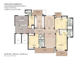 Xs Floor Plan by Ambience Creacions Sector 22 Gurgaon