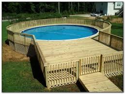 deck designs for above ground round pools decks home